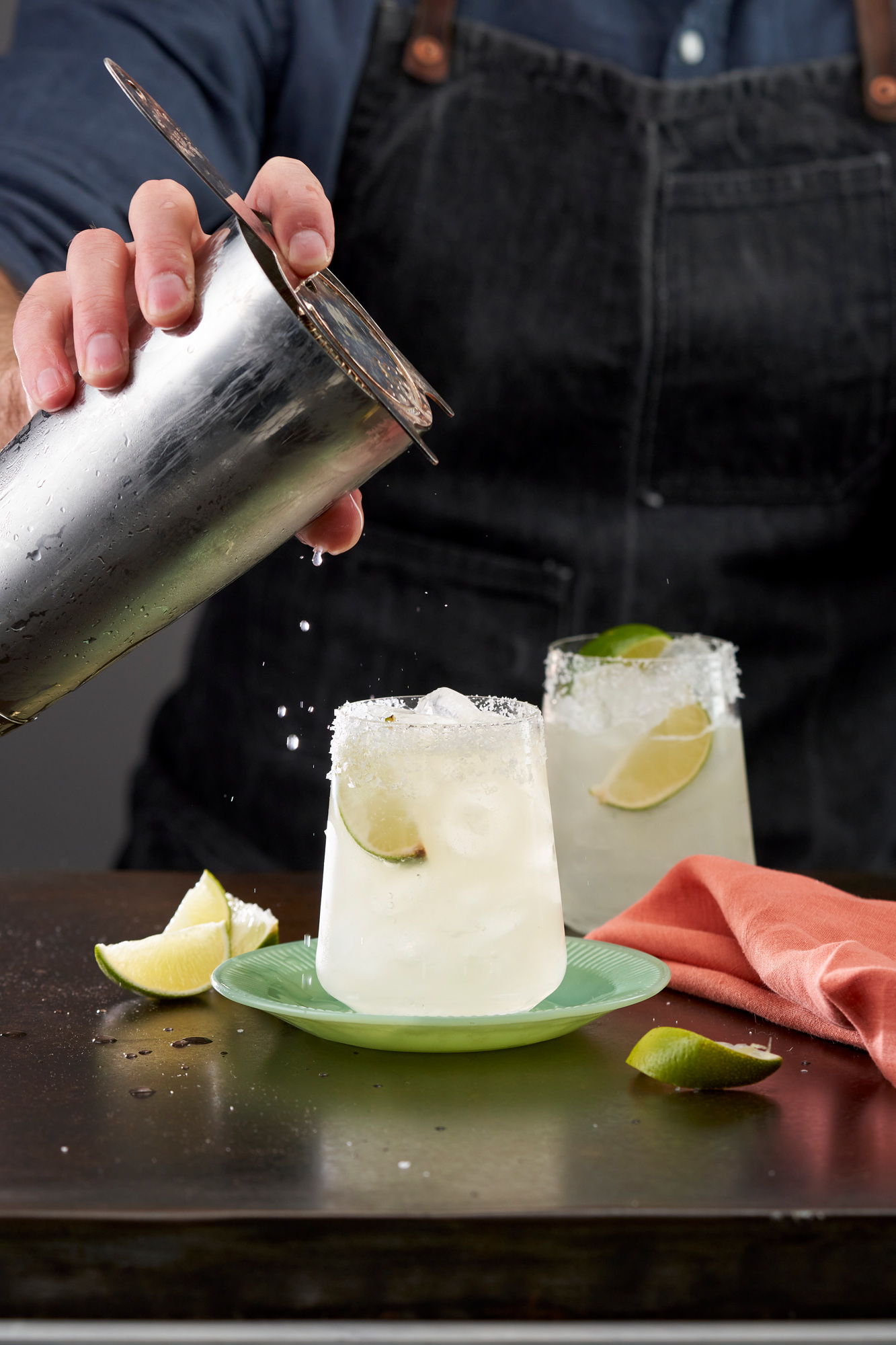 Margarita being made