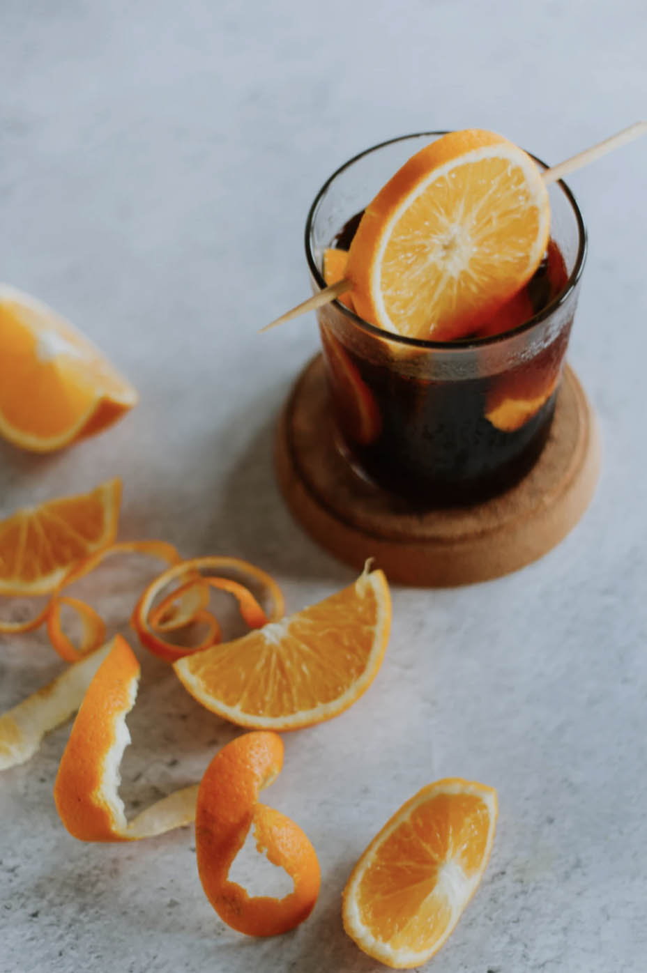 Vermouth with orange peel
